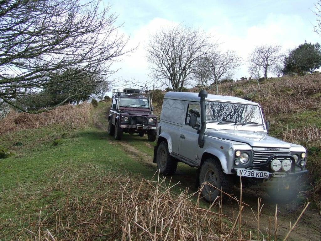 Landrovers off roading